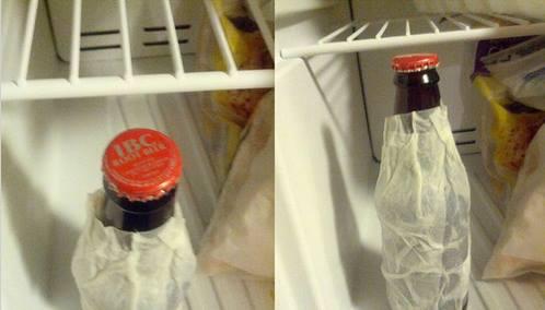 enfriar botellin de cerveza