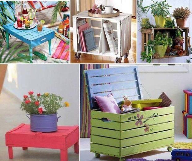 Ideas para reciclar cajas de madera de frutas Leroy Merlin