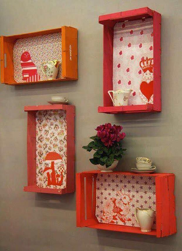 Ideas para reciclar cajas de madera de frutas leroy merlin - Cajas de madera para decorar ...