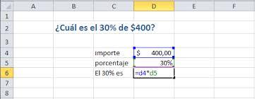 Cómo calcular porcentajes en Excel Y Google Drive